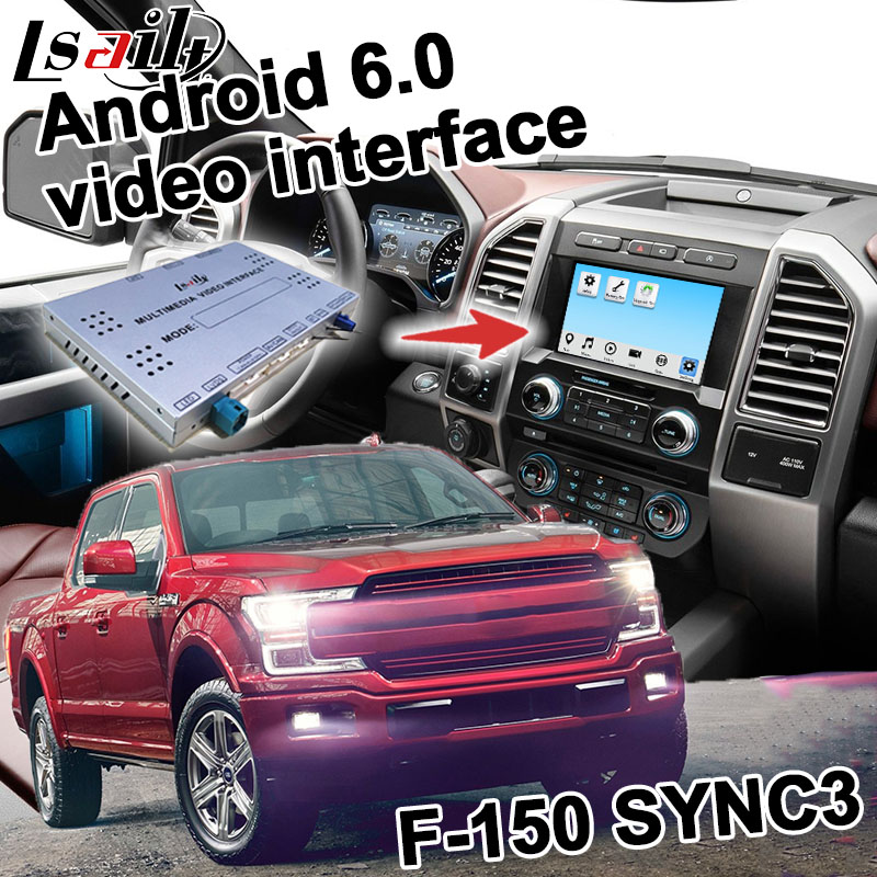 Android 6.0 GPS navigation box for Ford F 150 etc video interface box SYNC 3 Carplay quad core F150 waze youtube yandex