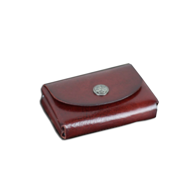 Manual New Business Card Holders Brand Designer Genuine Leather Vintage id name card holder Mini Wallets Coin Purses Hasp Pocket