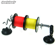 Portable Aluminum Fishing Line Winder Reel Spool Spooler System Tackle Tool Double Suction Cup Sea Carp Fishing Tools Accessory