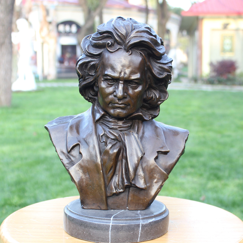 Copper crafts Beethoven characters Home Furnishing BRASS Statue Decor furnishings <b>musicians</b> boutique gift ornaments - China Cheap Products
