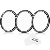 Neewer 58mm Rotated Star Filter Set for Canon/Nikon/Sony/Olympus/Other DSLR:58mm 4-Point/6-Point/8-Point Star Cross Filter+Cloth