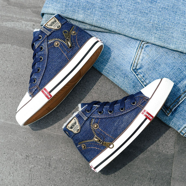Fall Jean Stylish High Tops 1
