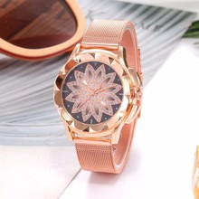 Rhinestone Decorated Steel Women's Watches