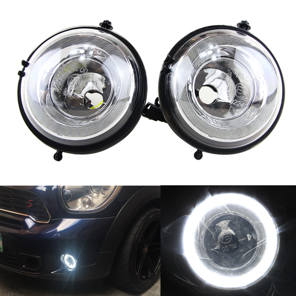 Mini DRL Daytime Running Light LED DRL Daytime Running Light Halo Ring LED Fog Lamp Kit For Mini Cooper R55 R56 R58 R60 Countryman R61 Paceman F56 Super Bright Led Driving Lamps