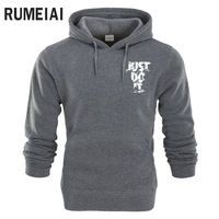 RUMEIAI 2018 Hoodie Men Letter Print Hoodie Mens Sweatshirt Hip Hop Hoodies Pullover Fashion Male Brand