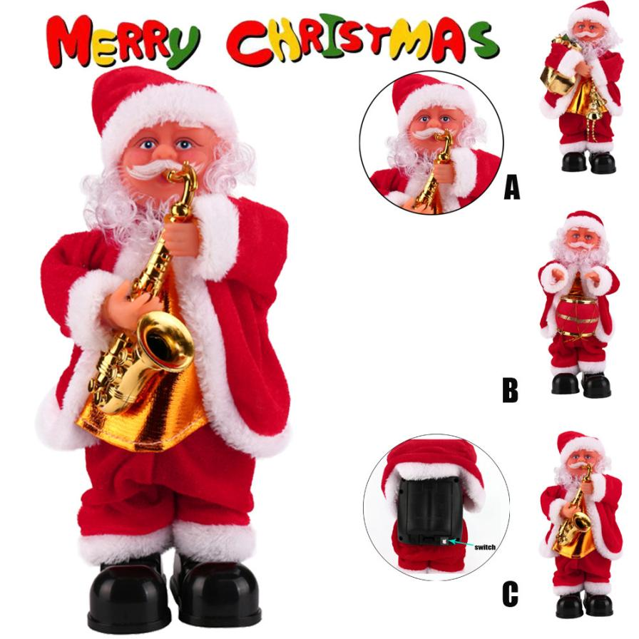 HIINST Santa Claus Baby Soft Plush Toy Singing Stuffed Animated Doll Christmas Gift H30 Oct12