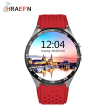 Hraefn KW88 Smart watch Phone Android 5.1 3G Wifi nano SIM WCDMA Kingwear heart rate monitor Smartwatch PK DM360 KW08 KW18