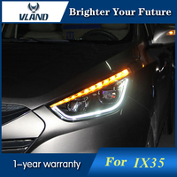 Car Styling Head Lamp for Hyundai Tuscon IX35 2010 2017 Headlights Head Lamps D2H H7 Angel Eyes Lights