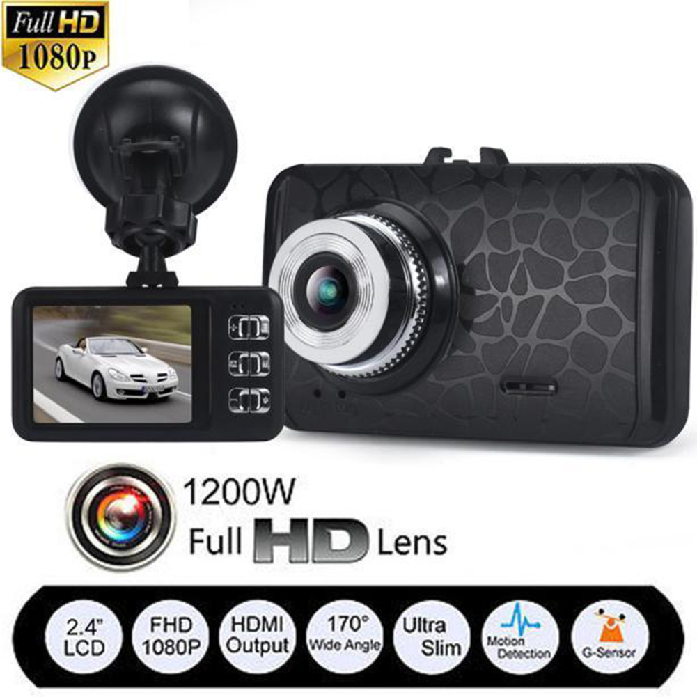 V19 Ultrathin Car DVR Video Recorder 2 4 Inch Screen HD 1080P 120 Degree 6 Glass