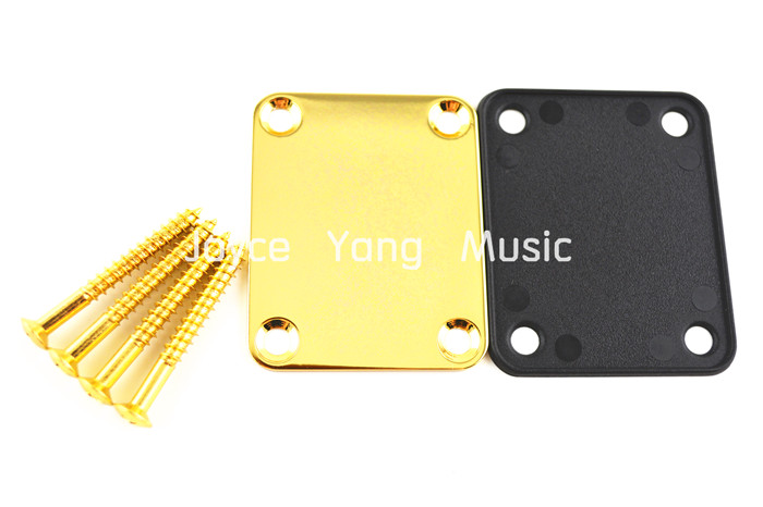Niko Gold Electric Guitar Neck Joint Plate with 4 Screws For Strat/Tele Style Electric Guitar/Bass Free Shipping