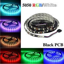 Black PCB LED Strip 5050,DC12V,Black PCB Board,IP65 Waterproof,60LED/m,5m 300LED,RGB,White,Warm White,Red,Green,Blue