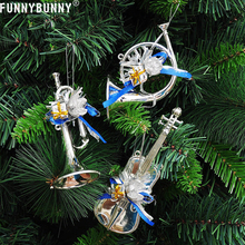 FUNNYBUNNY 3Pcs/set Christmas Tree Hanging Musical Instruments Pendant Party Decoration Ornamen