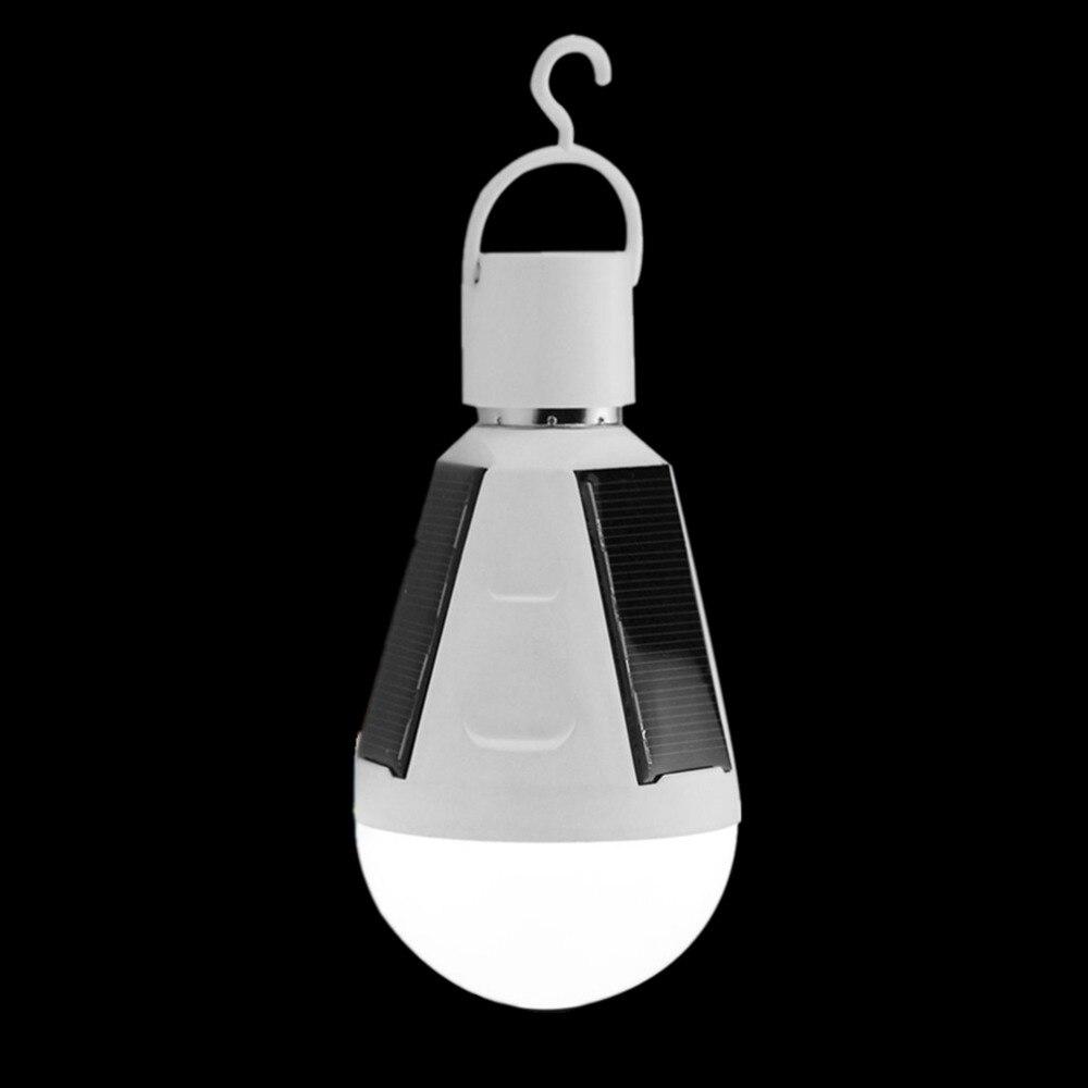 ICOCO Waterproof E27 Solar Emergency Light 7W 85-265V Solar Lamp Portable LED Bulb Built-in Sensor Energy Saving Solar Panel