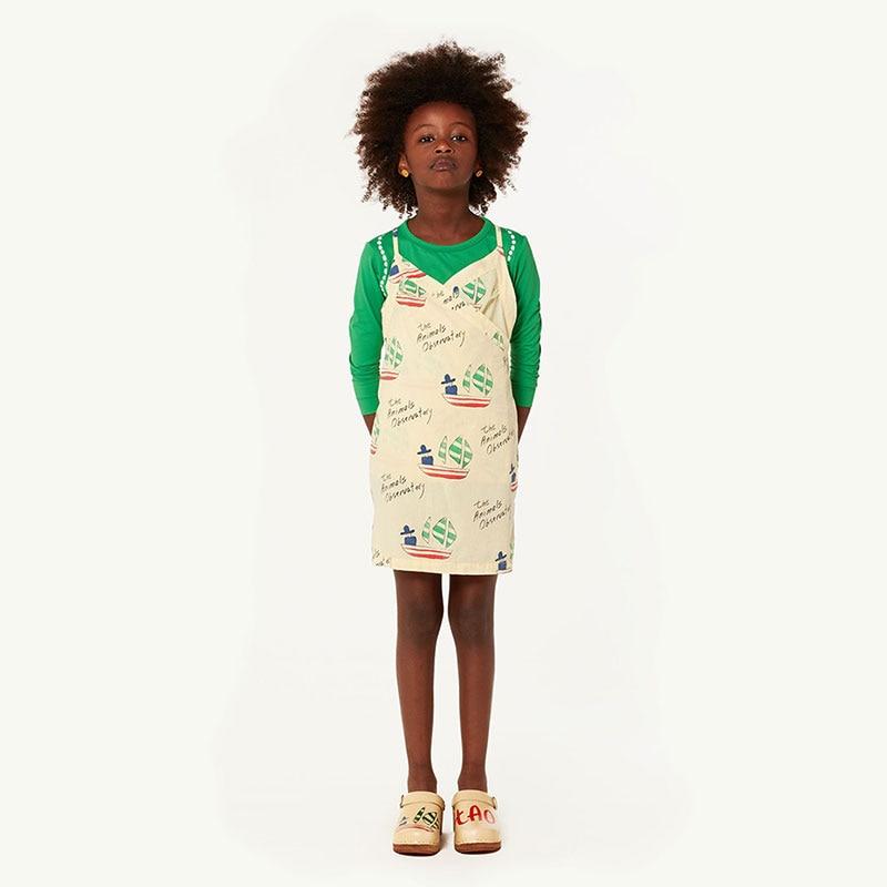 fedfb3618d Summer New INS Bohemian Style Children s Cotton Sling Dress Long Dresses  Girl Print Floral Strap Dress Spring Girls Beach Dress