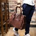 Novo Design PU homens de couro mensageiro sacos clássicos moda bolsas Casual ombro negócio para o homem, Homens de sacos de viagem