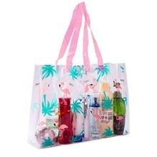 Transparent PVC Flamingo Women Cosmetic Bag Handbag Large Capacity Makeup Bag Waterproof Storage Toiletry Kit Make Up Case