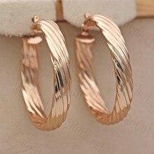 Pendientes de aro Retro para mujeres oro lleno pendiente con patrón gran círculo redondo Retro Metal geométrico pendientes joyería de moda