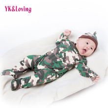 Camouflage Baby Rompers For Newborns Clothes Winter/Full Long Sleeve Costume Cotton Infant Boy Girl Clothing Overalls Jumpsuit цены