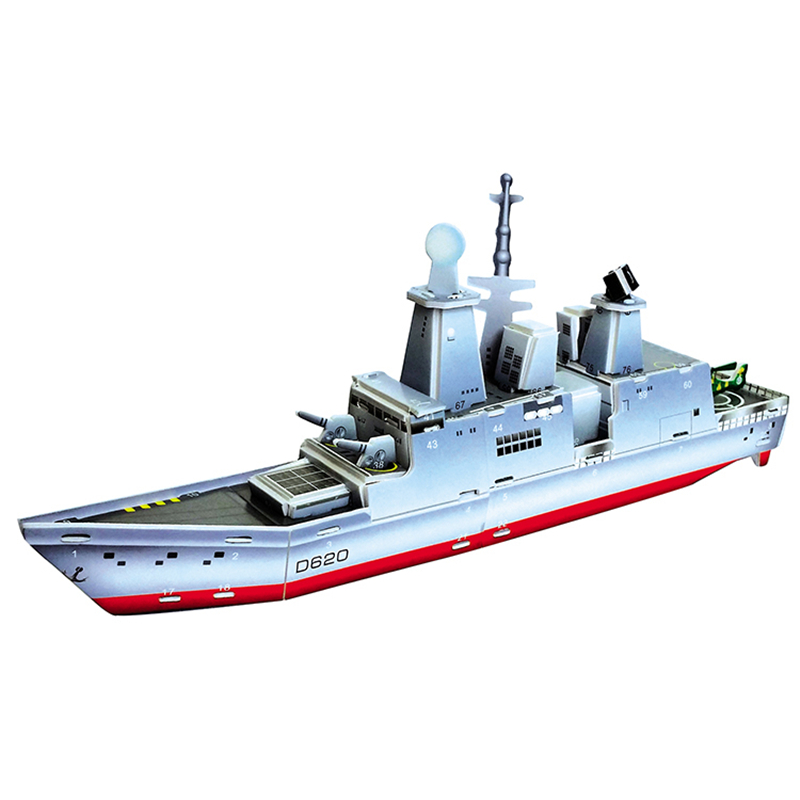 3D Puzzle Safe Foam Arts Crafts Diy Building Kits Craft Toys Military Aircraft Carrier Boat Toys For Kids