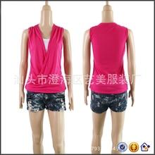 cheap false 2 piees sleeveless blusas pleat hemline V neck plus size women clothing 2017 camis women hot sexy women high quality