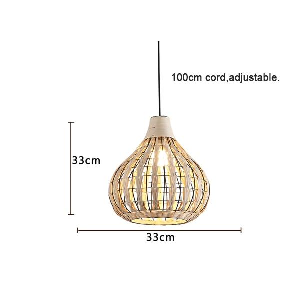 Специальная металлическая Подвесная лампа из ротанга Cany Art E27 подвесной светильник для гостиной спальни столовой внутренней декоративной лампы - Цвет корпуса: Model C D33xH33