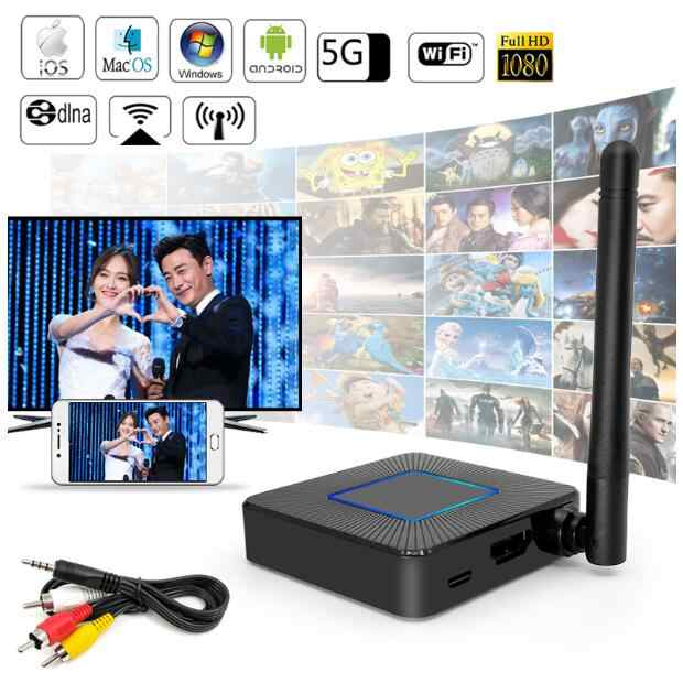 2.4/5G TV Stick Q4 Dongle HDMI AV Cable Mirroring WiFi Display Receiver Miracast Google Chrome Cast 1080P DLNA for Android IOS
