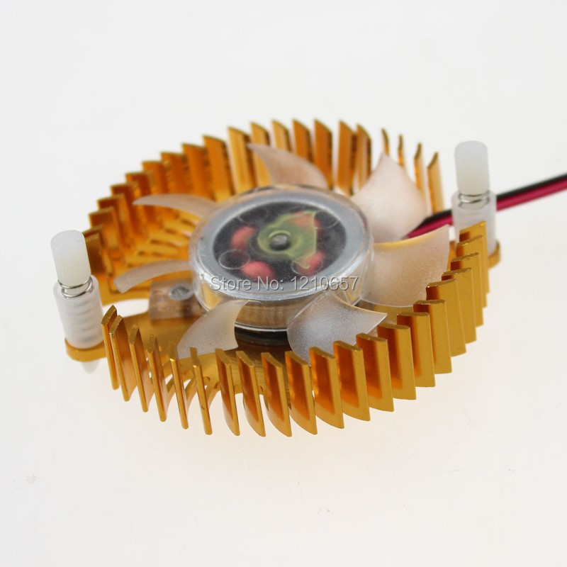 1PCS 55mm Hole Size 2pin 12V PC GPU VGA Video Card Heatsink Cooler Cooling Fan 55mm aluminum cooling fan heatsink cooler for pc computer cpu vga video card bronze em88