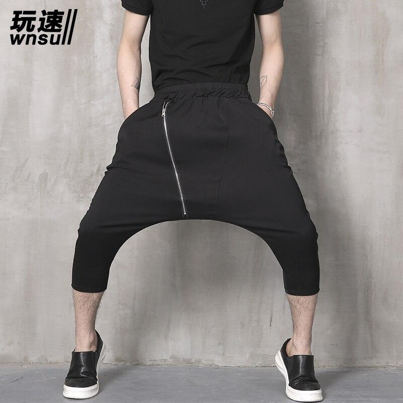 M-6XL!!    2018  Summer Male Personality Pants Harem Pants The Trend Of The Big Harem Pants  Big Yards Men's Trousers