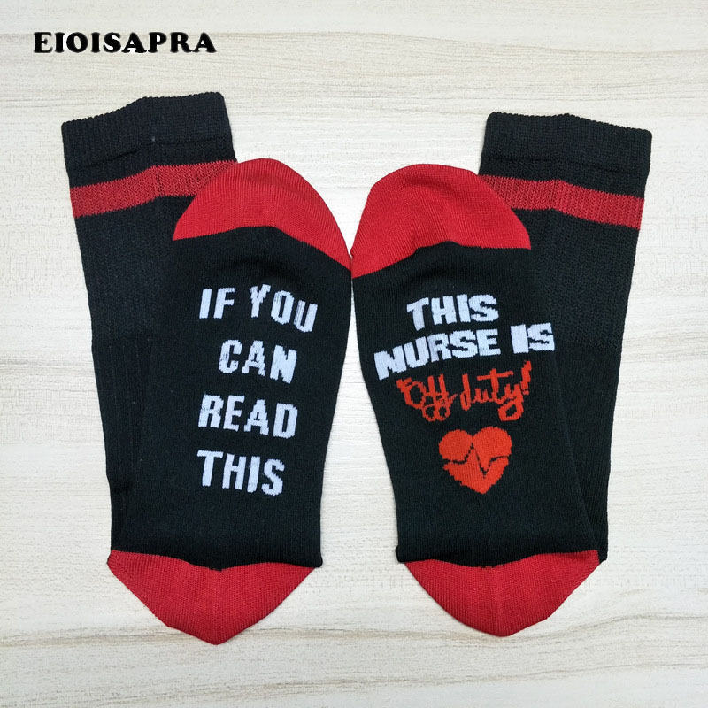 [EIOISAPRA]Word If You Can Read This Letter Pattern Funny Socks Novelty Casual Unisex Socks Men Harajuku Creative Hip Hop Sox
