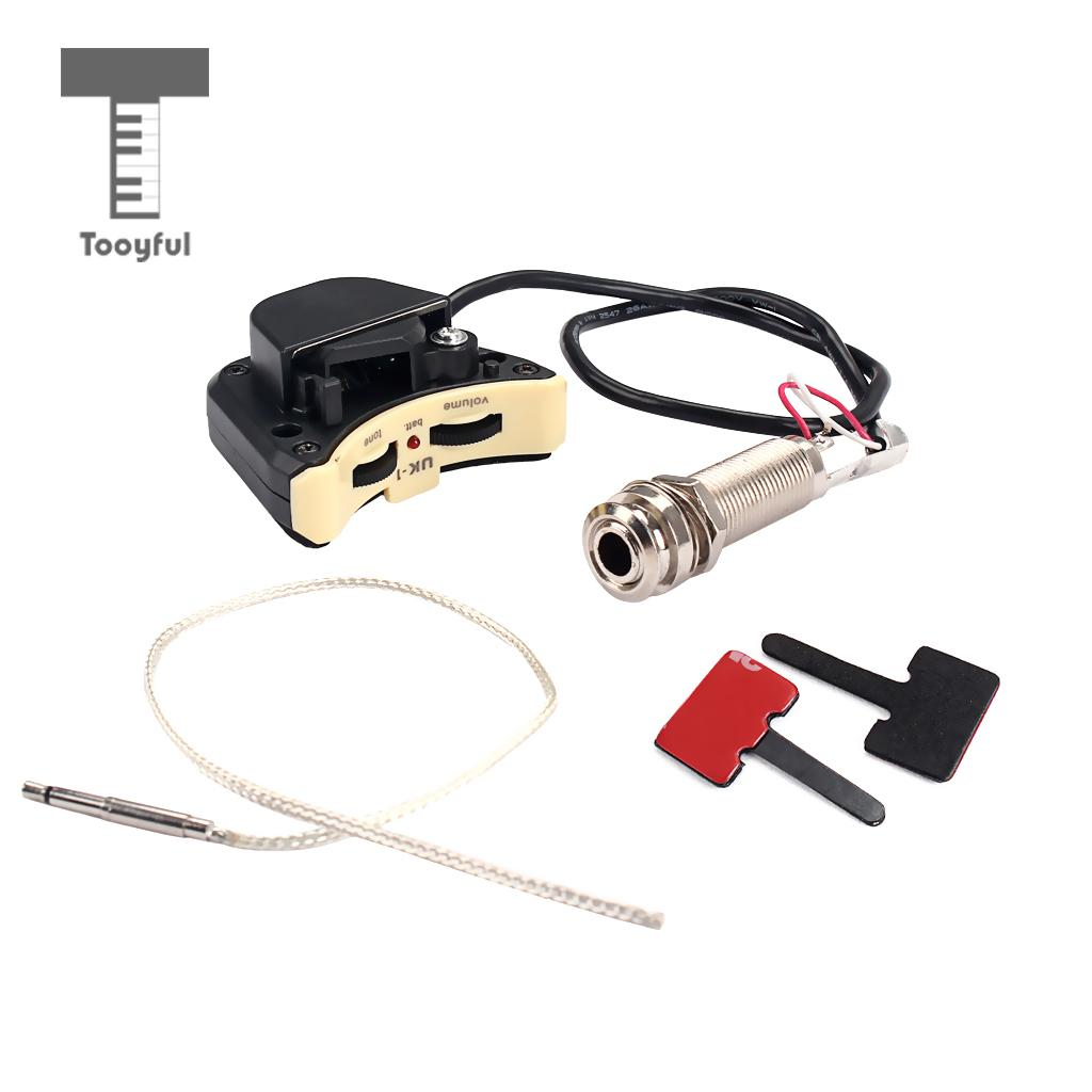 Ukulele Piezo Pickup Preamp Endpin Jack With Volume Tone Control Wiring Diagram For Guitar Parts Accessories