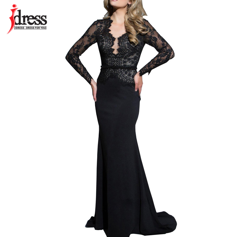 IDress New Sexy Lace Vintage Mermaid Elegant Long Maxi Dress Formal Party Women Gown Special Occasion Dresses 2018 Vestido Longo (6)