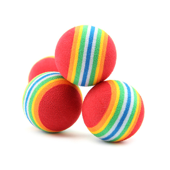 20Pcs Mini Cute Dog Puppy Pet Toy Popular Rainbow Colorful Rubber Ball Pet Product Small Dog Puppy Play Chew Treat Ball Toys