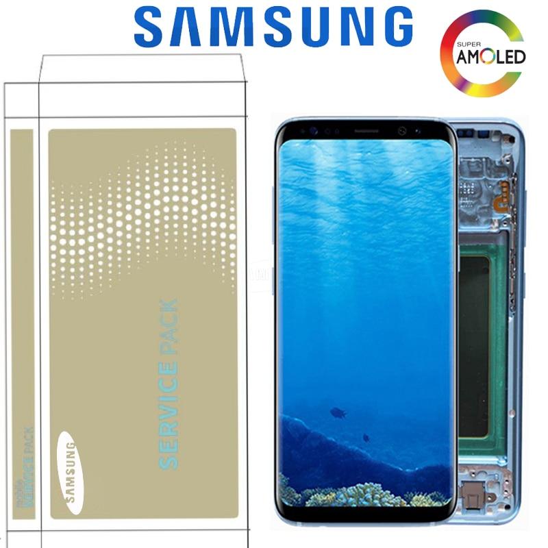 Écran d'origine Super AMOLED pour Samsung S8 Plus G955 G955F S8 G950F G950U G950W LCD écran tactile numériseur assemblée avec cadre-in Écrans LCD téléphone portable from Téléphones portables et télécommunications on AliExpress - 11.11_Double 11_Singles' Day 1