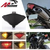 Motorcycle flashing LED Brake Rear Light Turn Signal Integrated Light For YAMAHA YZF R1 YZF R1 2004 2005 2006 Smoke tail light