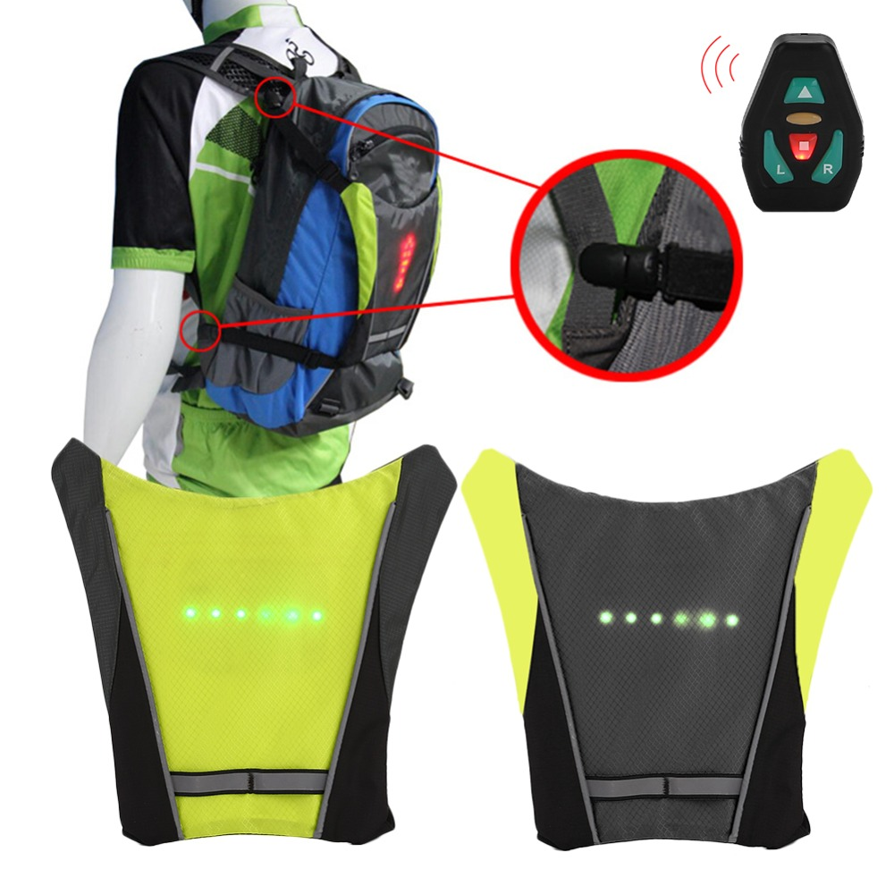 Bicycle Bags & Panniers Bicycle Accessories Efficient Usb Charging Led Light Warning Vest Backpack Mtb Bike Bag Safety Led Signal Vests Warning Accessories