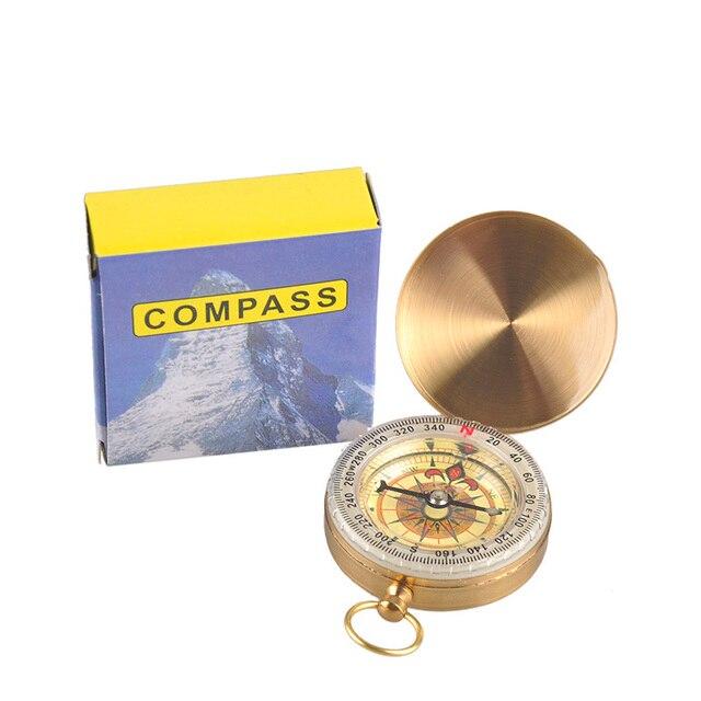 Mini Outdoor Camping Portable Folding Hiking Navigation Pocket Compass Brass Military Army Climbing Hunting Tool Keychain Kompas 6