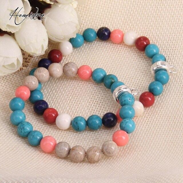 Фото томас коралл голубой камень красочный материал микс с шармами