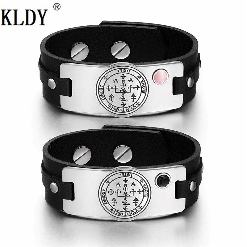 KLDY sortie d'usine Bracelet en cuir Couple amitié Bracelets en acier inoxydable personnalisable hommes et femmes bijoux en gros