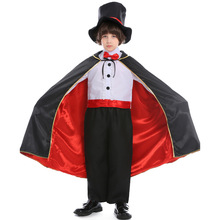 New Arrival Magician Costume Cosplay For Kids Circus Performance Suit Halloween Carnival Party Dress Up