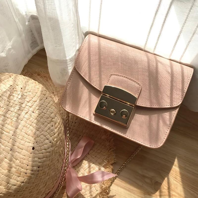 2019 fashion Luxury brands classic genuine leather single shoulder slant cross women s bag school Candy