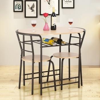 Conjunto de Mesa y 2 Sillas Set Muebles de Hierro para Comedor ...