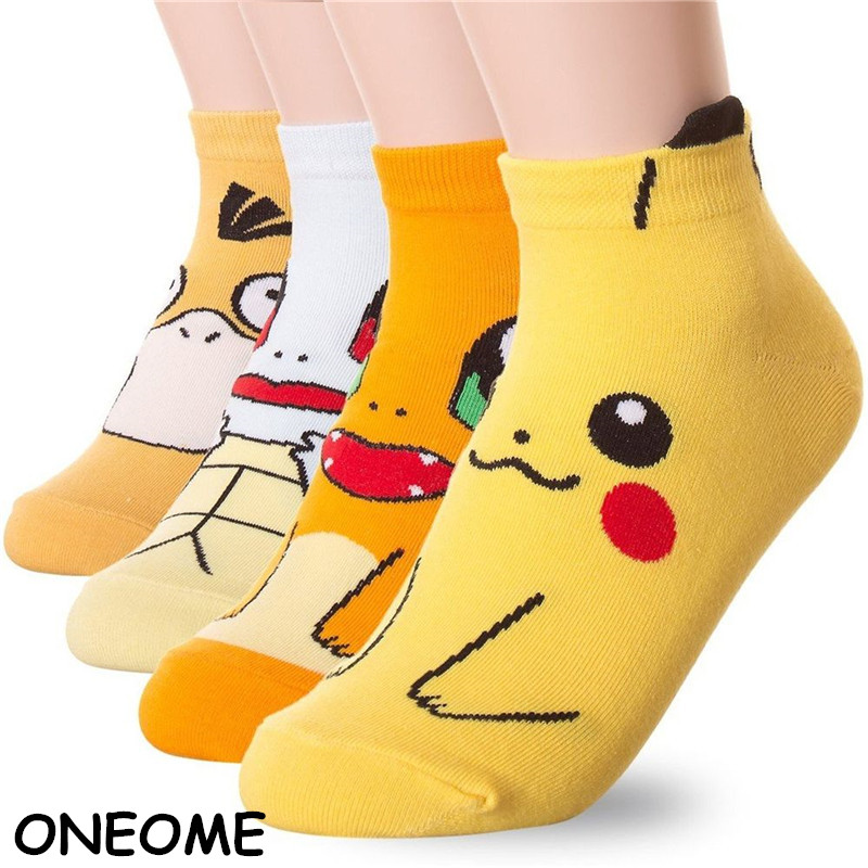 New Fashion Cute Pokemon Socks Cotton Ans