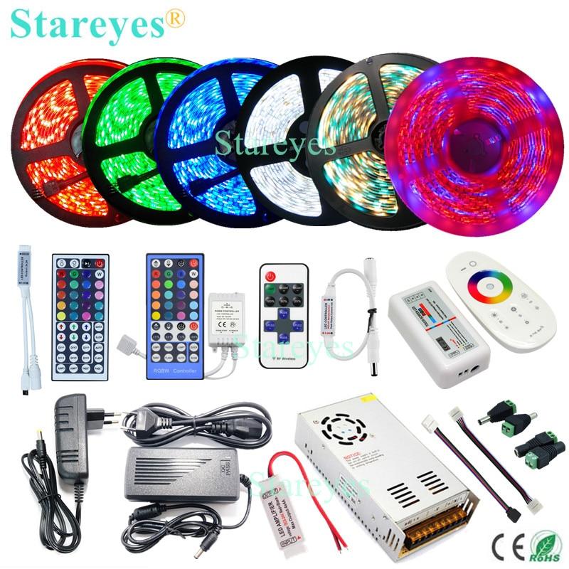 Groothandel LED strip SMD 2835 3528 5050 IP20 IP65 IP67 IP68 Waterdichte tape IR RF Wifi afstandsbediening voedingsadapter