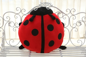 stuffed animal plush 55x55cm insect spot ladybird plush toy soft doll coccinella throw pillow gift t6180