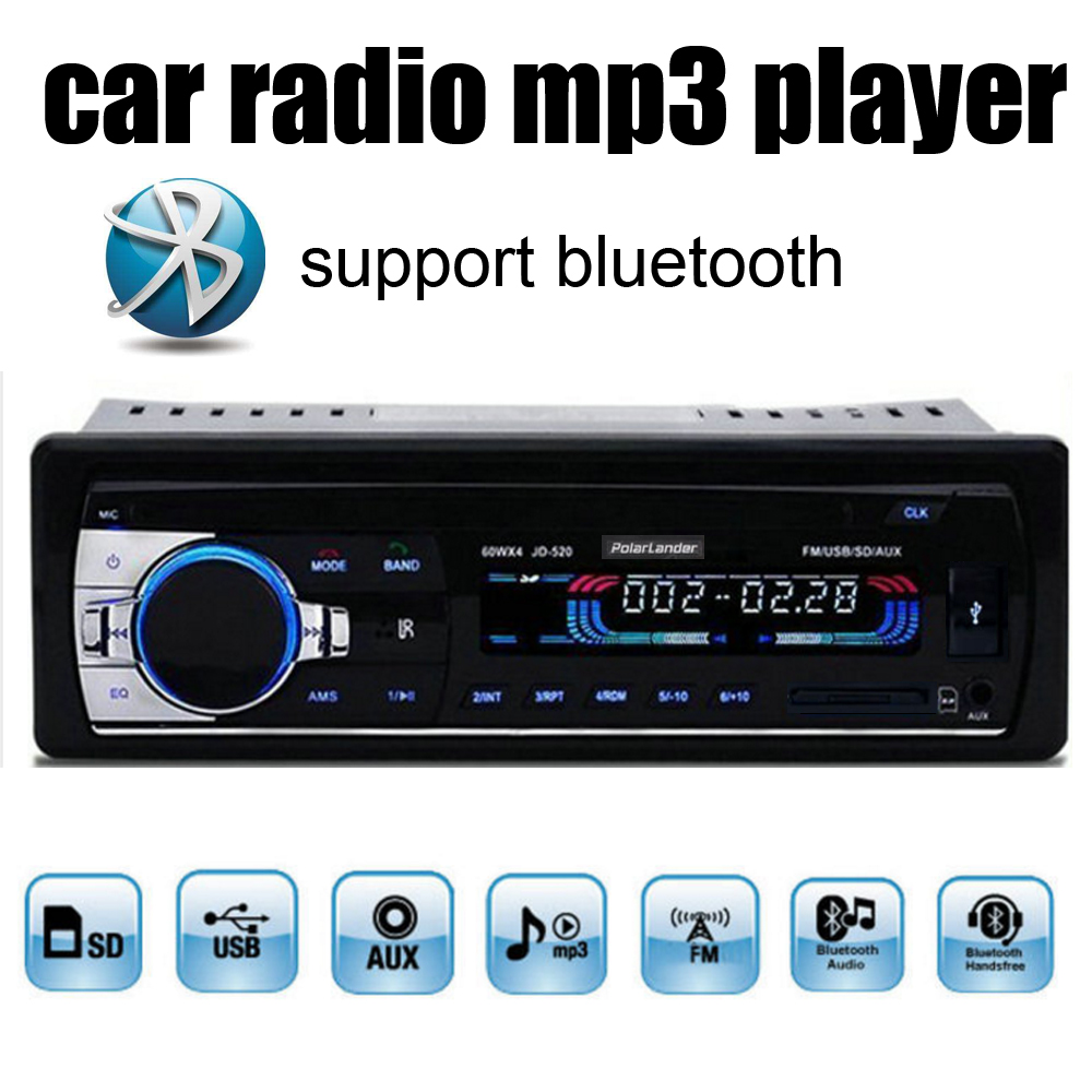 new 12v bluetooth in dash 1 din car radios tuner stereo. Black Bedroom Furniture Sets. Home Design Ideas