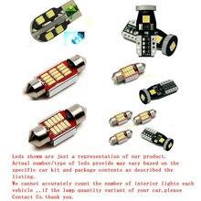 цена на Free Shipping 14Pcs/Lot 12v Xenon White/Blue Package Kit LED Interior Lights For 97-05 BMW 5 CanBus