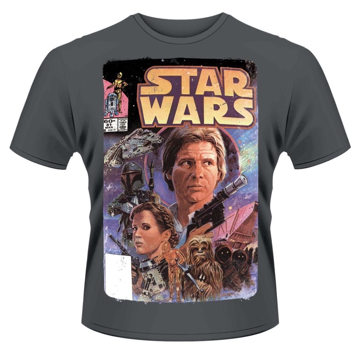 Star Wars Comic T-Shirt - NEW  Free shipping Harajuku Tops Fashion Classic Unique Cotton O-Neck T Shirt free