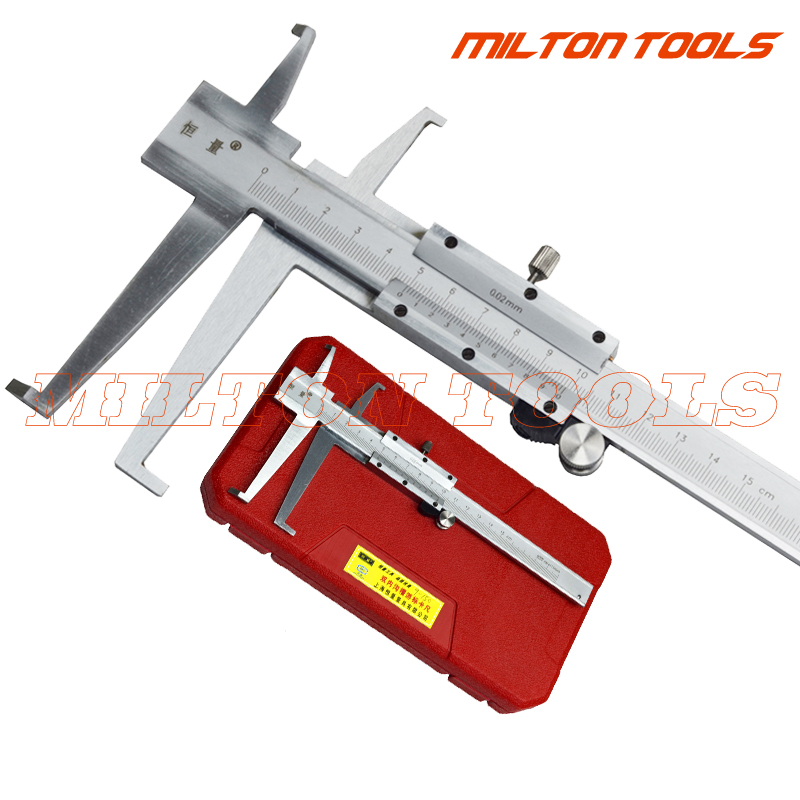 9 150mm Knife point Inside Groove Vernier Caliper with Double Claw Professional Inner Vernier Calipers Accuracy