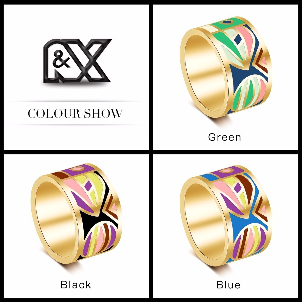R&X 2016 stainless steel drip fashion colored enamel hot style in - Fashion Jewelry - Photo 4