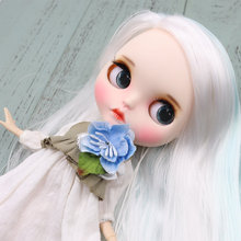 ICY Blythe Doll Baby Blue White Hair Jointed Body 30cm